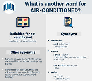 air-conditioned, synonym air-conditioned, another word for air-conditioned, words like air-conditioned, thesaurus air-conditioned