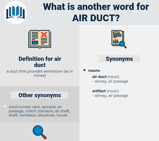 air duct, synonym air duct, another word for air duct, words like air duct, thesaurus air duct