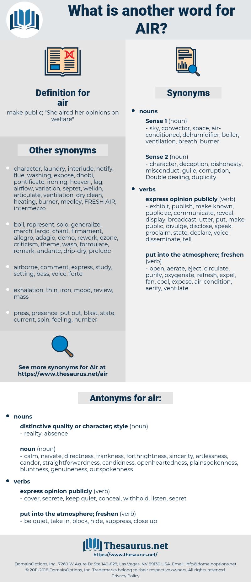 air, synonym air, another word for air, words like air, thesaurus air