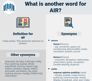 air, synonym air, another word for air, words like air, thesaurus air