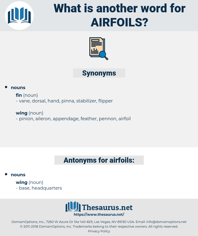 airfoils, synonym airfoils, another word for airfoils, words like airfoils, thesaurus airfoils