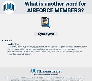 airforce members, synonym airforce members, another word for airforce members, words like airforce members, thesaurus airforce members
