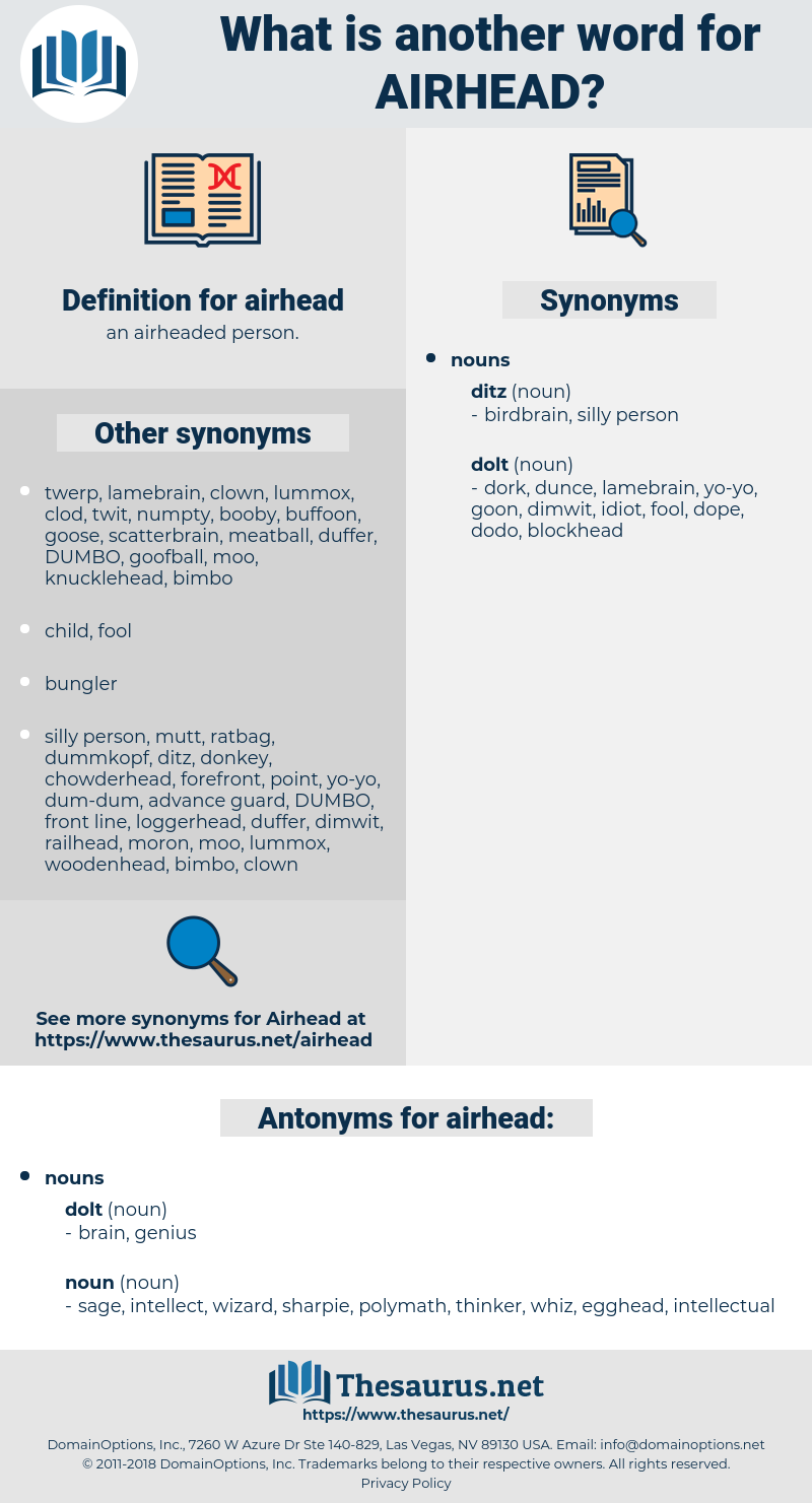 airhead, synonym airhead, another word for airhead, words like airhead, thesaurus airhead