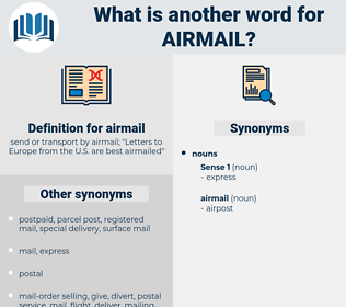 airmail, synonym airmail, another word for airmail, words like airmail, thesaurus airmail