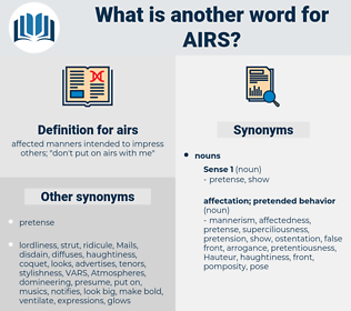 airs, synonym airs, another word for airs, words like airs, thesaurus airs