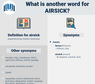 airsick, synonym airsick, another word for airsick, words like airsick, thesaurus airsick
