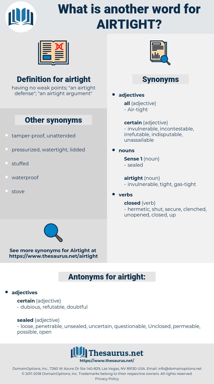 airtight, synonym airtight, another word for airtight, words like airtight, thesaurus airtight