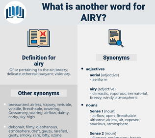 airy, synonym airy, another word for airy, words like airy, thesaurus airy