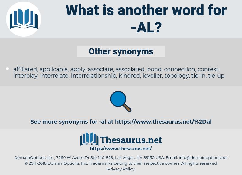 al, synonym al, another word for al, words like al, thesaurus al