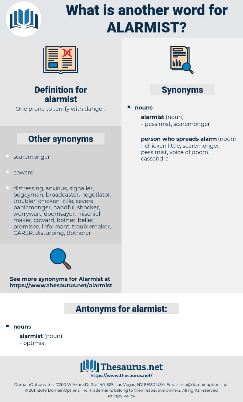 alarmist, synonym alarmist, another word for alarmist, words like alarmist, thesaurus alarmist