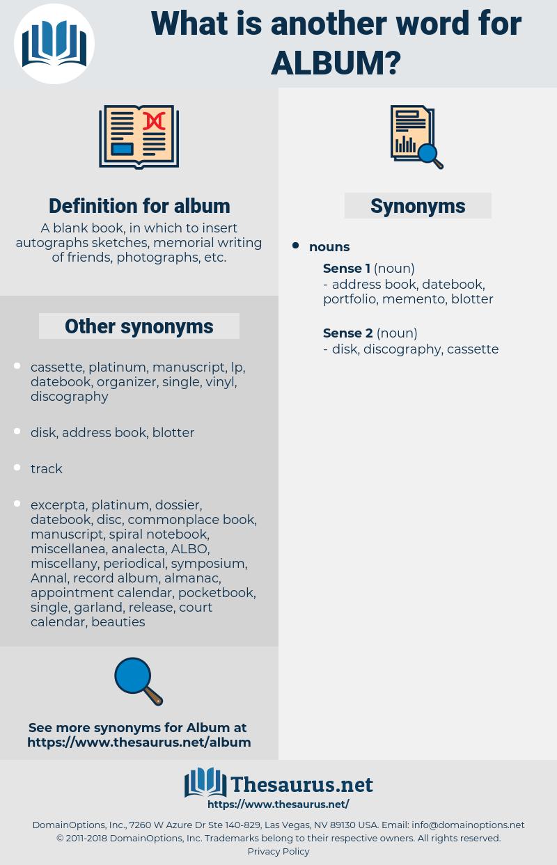 album, synonym album, another word for album, words like album, thesaurus album