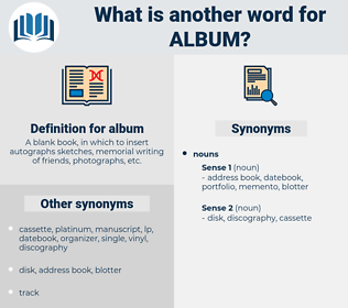 album, synonym album, another word for album, words like album, thesaurus album