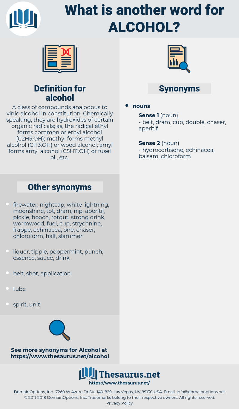 alcohol, synonym alcohol, another word for alcohol, words like alcohol, thesaurus alcohol
