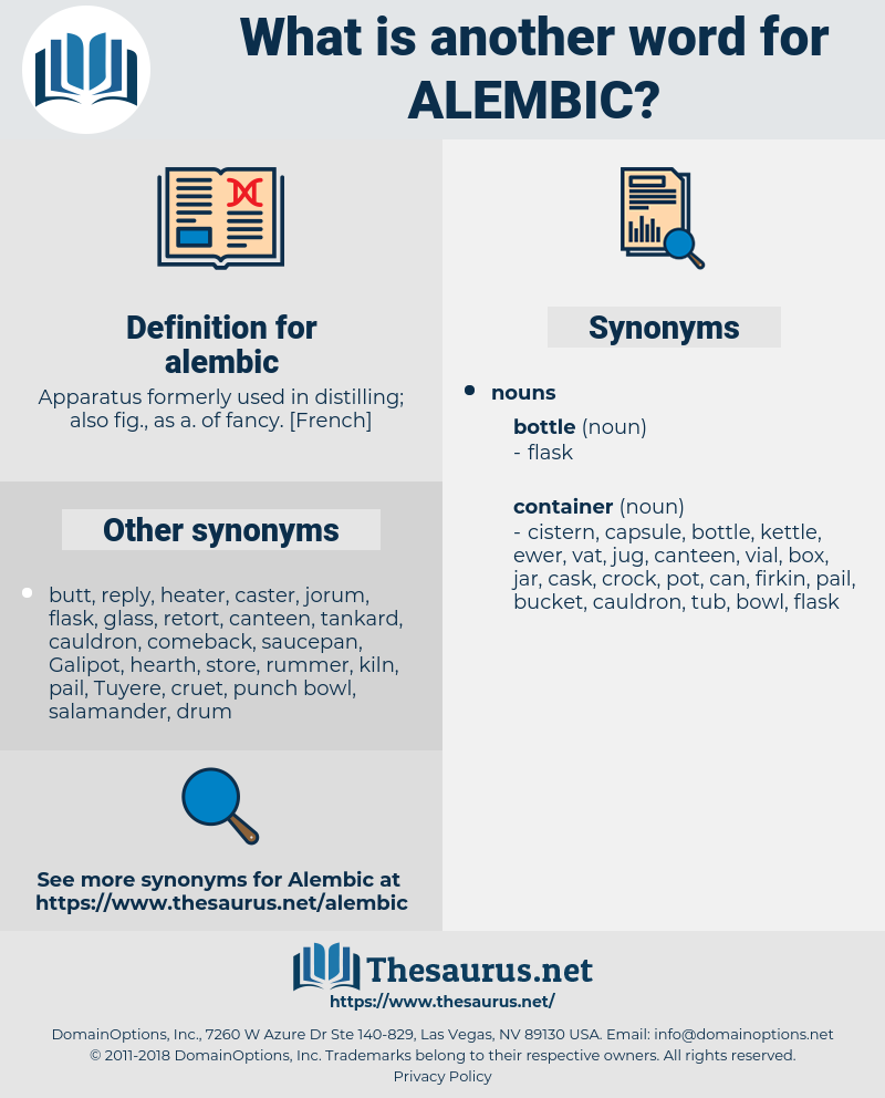 alembic, synonym alembic, another word for alembic, words like alembic, thesaurus alembic