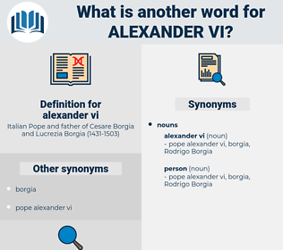 alexander vi, synonym alexander vi, another word for alexander vi, words like alexander vi, thesaurus alexander vi