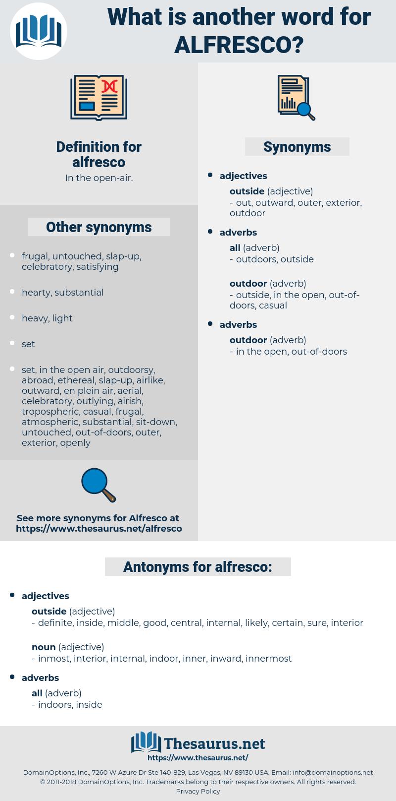 alfresco, synonym alfresco, another word for alfresco, words like alfresco, thesaurus alfresco