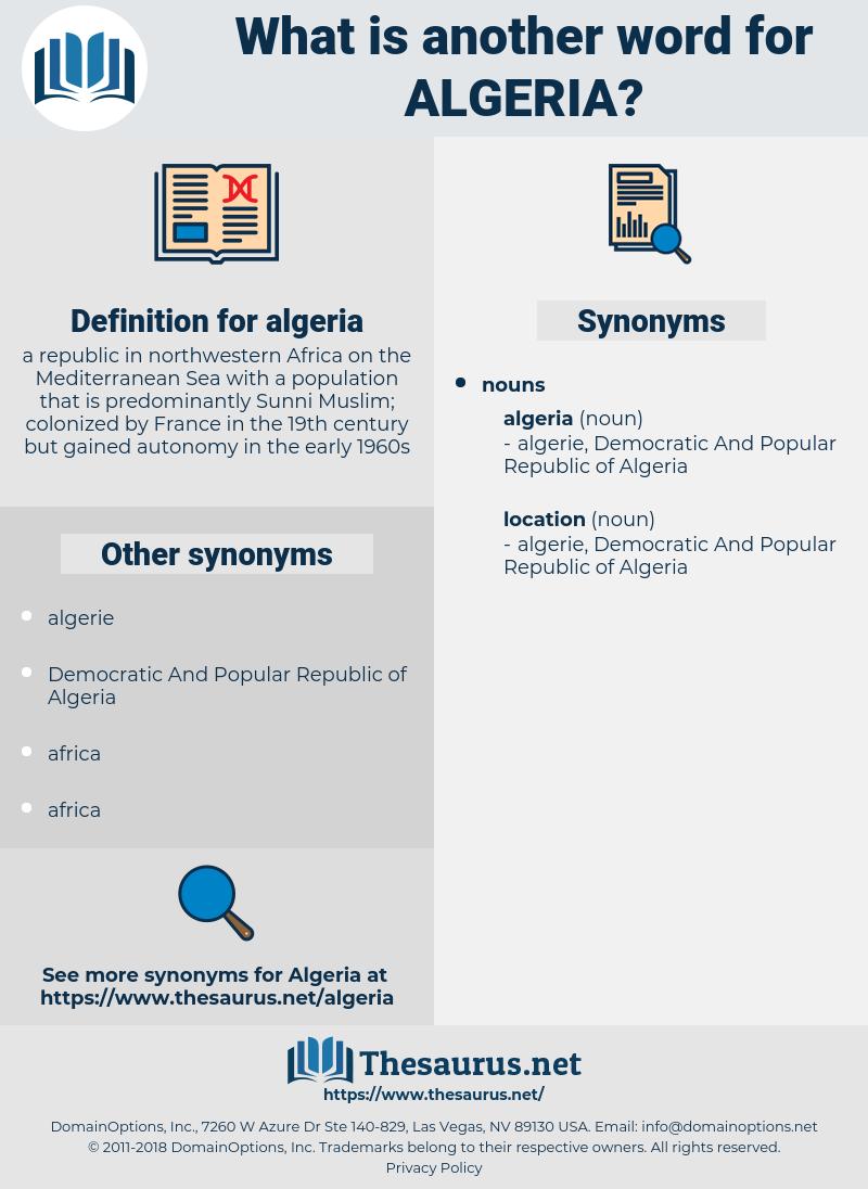 algeria, synonym algeria, another word for algeria, words like algeria, thesaurus algeria