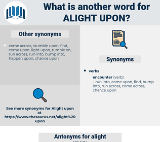 alight upon, synonym alight upon, another word for alight upon, words like alight upon, thesaurus alight upon