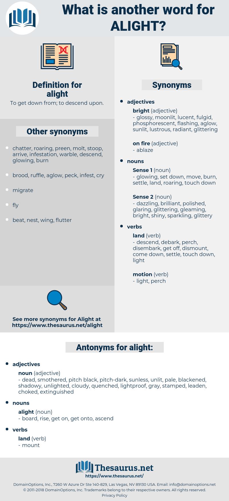 alight, synonym alight, another word for alight, words like alight, thesaurus alight