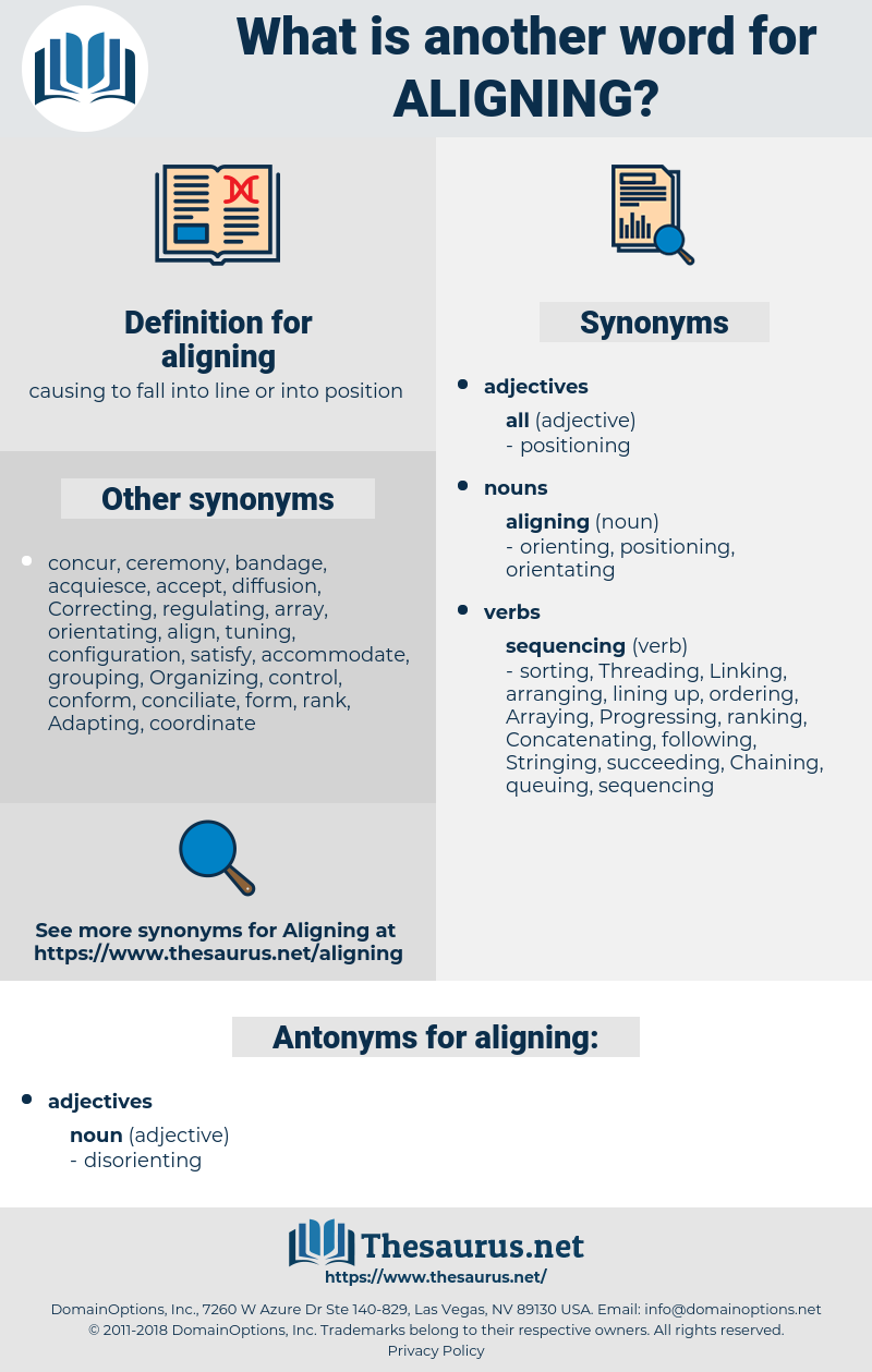 aligning, synonym aligning, another word for aligning, words like aligning, thesaurus aligning