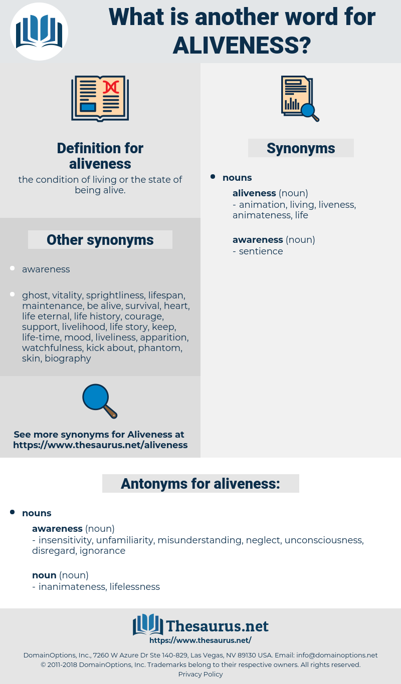 aliveness, synonym aliveness, another word for aliveness, words like aliveness, thesaurus aliveness