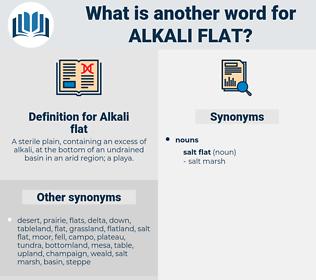 Alkali flat, synonym Alkali flat, another word for Alkali flat, words like Alkali flat, thesaurus Alkali flat