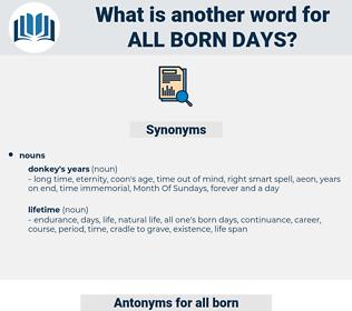 all born days, synonym all born days, another word for all born days, words like all born days, thesaurus all born days
