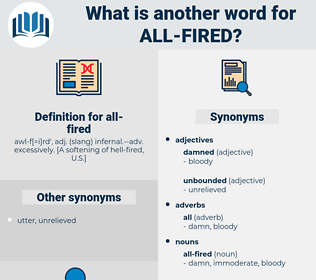 all fired, synonym all fired, another word for all fired, words like all fired, thesaurus all fired