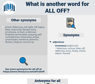 all off, synonym all off, another word for all off, words like all off, thesaurus all off
