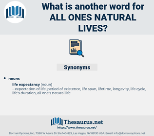 all ones natural lives, synonym all ones natural lives, another word for all ones natural lives, words like all ones natural lives, thesaurus all ones natural lives