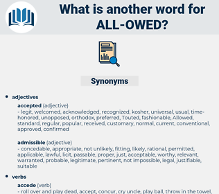 all owed, synonym all owed, another word for all owed, words like all owed, thesaurus all owed