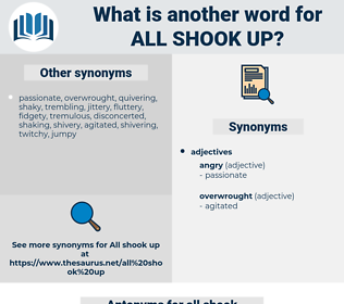 all shook up, synonym all shook up, another word for all shook up, words like all shook up, thesaurus all shook up