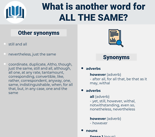 all the same, synonym all the same, another word for all the same, words like all the same, thesaurus all the same