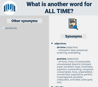 all time, synonym all time, another word for all time, words like all time, thesaurus all time