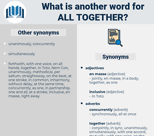 all together, synonym all together, another word for all together, words like all together, thesaurus all together
