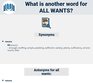 all wants, synonym all wants, another word for all wants, words like all wants, thesaurus all wants