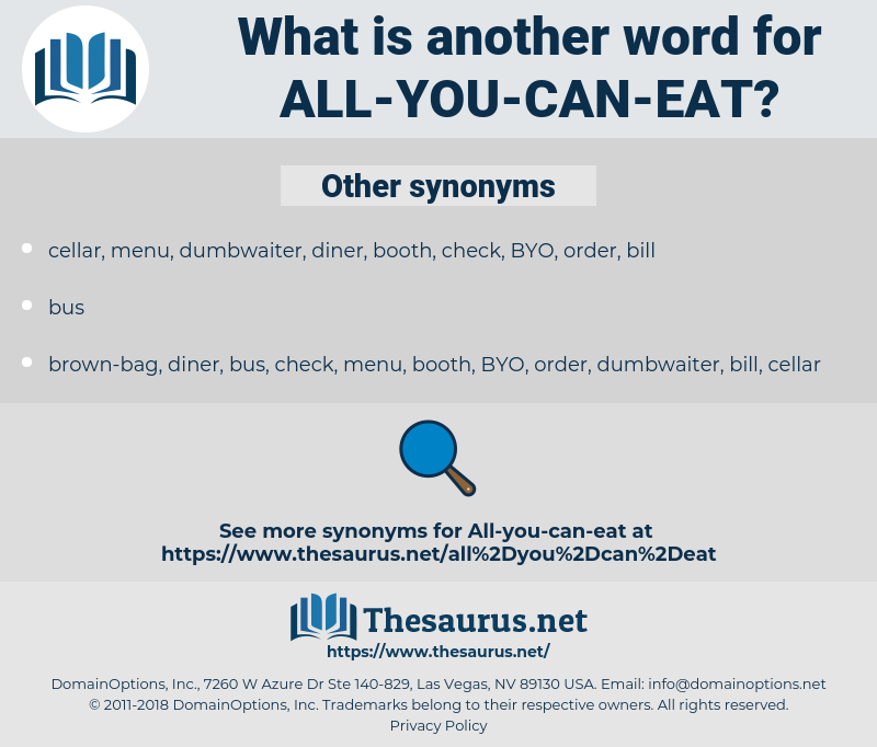 all-you-can-eat, synonym all-you-can-eat, another word for all-you-can-eat, words like all-you-can-eat, thesaurus all-you-can-eat