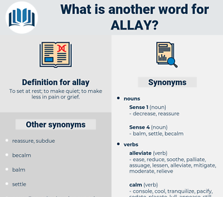allay, synonym allay, another word for allay, words like allay, thesaurus allay