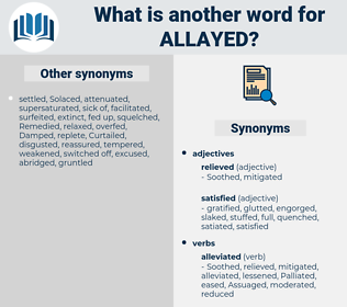 Allayed, synonym Allayed, another word for Allayed, words like Allayed, thesaurus Allayed