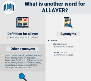 allayer, synonym allayer, another word for allayer, words like allayer, thesaurus allayer
