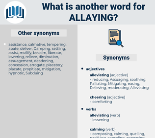 Allaying, synonym Allaying, another word for Allaying, words like Allaying, thesaurus Allaying