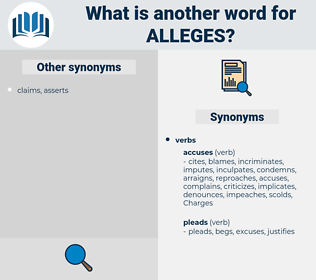 alleges, synonym alleges, another word for alleges, words like alleges, thesaurus alleges