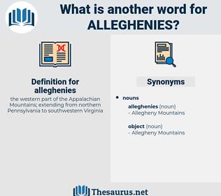 alleghenies, synonym alleghenies, another word for alleghenies, words like alleghenies, thesaurus alleghenies