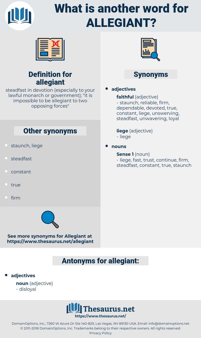 allegiant, synonym allegiant, another word for allegiant, words like allegiant, thesaurus allegiant