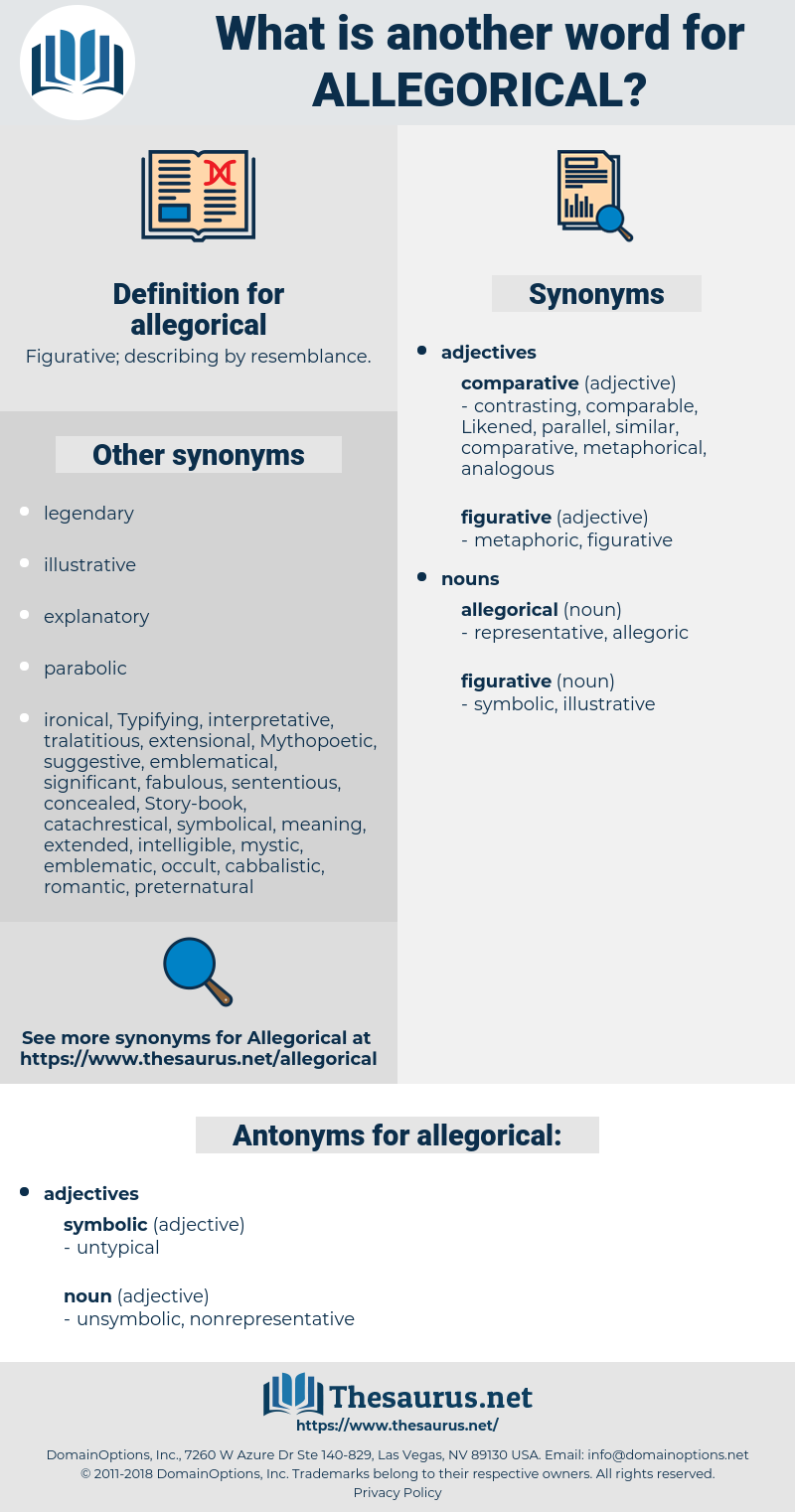 allegorical, synonym allegorical, another word for allegorical, words like allegorical, thesaurus allegorical