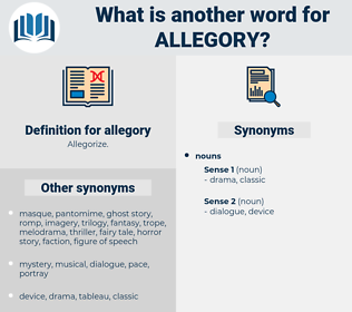 allegory, synonym allegory, another word for allegory, words like allegory, thesaurus allegory