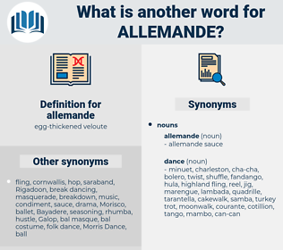 allemande, synonym allemande, another word for allemande, words like allemande, thesaurus allemande