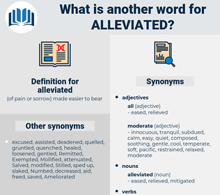 alleviated, synonym alleviated, another word for alleviated, words like alleviated, thesaurus alleviated