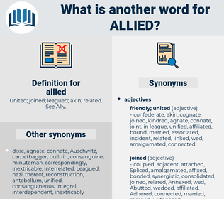 allied, synonym allied, another word for allied, words like allied, thesaurus allied