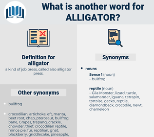 alligator, synonym alligator, another word for alligator, words like alligator, thesaurus alligator